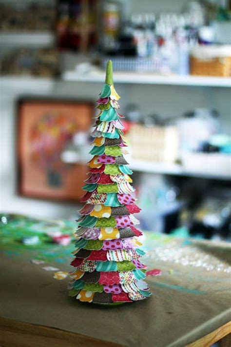 small paper christmas trees