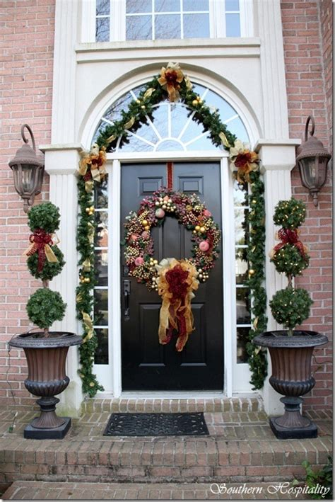 garland around front door debbie s house southern hospitality 3736
