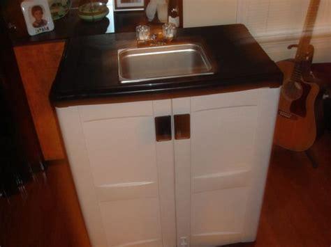 outdoor sink   rubbermaid outdoor cabinet  put