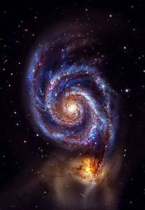 The Whirlpool Galaxy interacting with NGC 5195