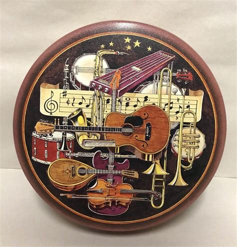 Eakins music boxes christmas music box favorites lp audio fidelity afsd 5982 st. Vintage Tin Box Music Instruments Guitar Violin Banjo Musical Container | eBay (With images ...