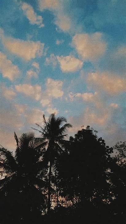 Langit Senja Pemandangan Gambar Aesthetic Dia Dari
