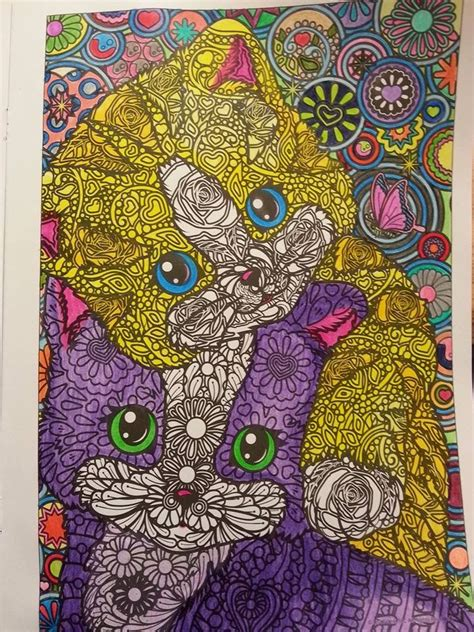 lisa frank color me adult coloring book colored