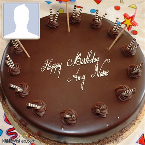 write   chocolate birthday cake