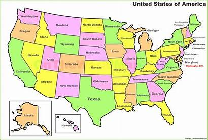 Map States State Abbreviations Printable United Capitals