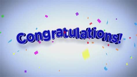 congratulations headline stock footage video 100 royalty
