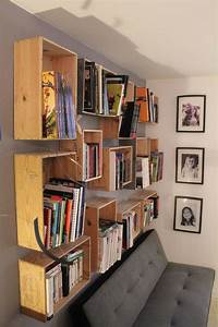 bibliotheque caisses de vin deco bibliotheques With meuble en caisse de vin
