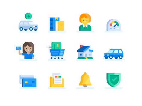 credit karma goals icons     credit cards