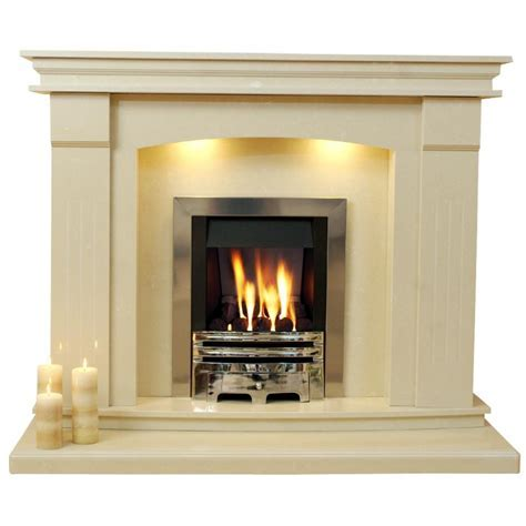Sheridan Marble Fireplace Hearth & Back Panel