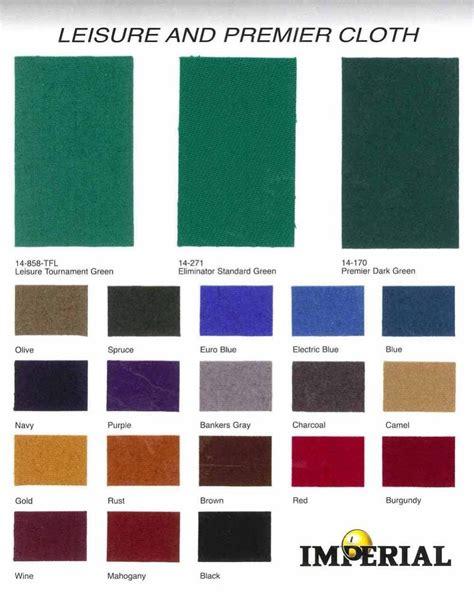 pool table cloth colors billiard cloth felt color chart