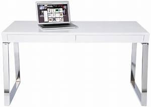 Petit Bureau Pas Cher : table bureau pas cher bureau blanc et bois eyebuy ~ Melissatoandfro.com Idées de Décoration