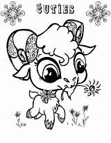 Goat Coloring Pages Eyed Animal Drawing Mountain Goats Printable Getcolorings Sheets Colorings Getdrawings sketch template