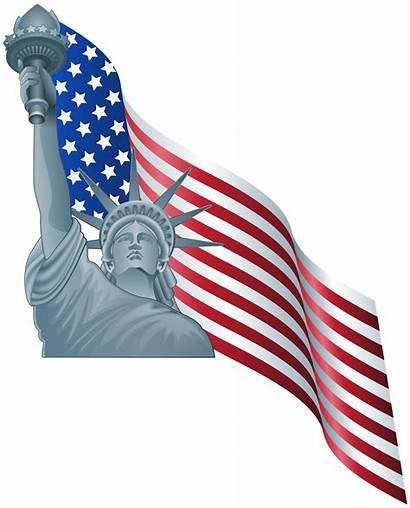 Liberty Statue Flag American Clip Clipart America