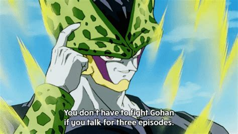 Perfect Cell Meme - you don t have to fight gohan if you talk for 3 episodes roll safe know your meme
