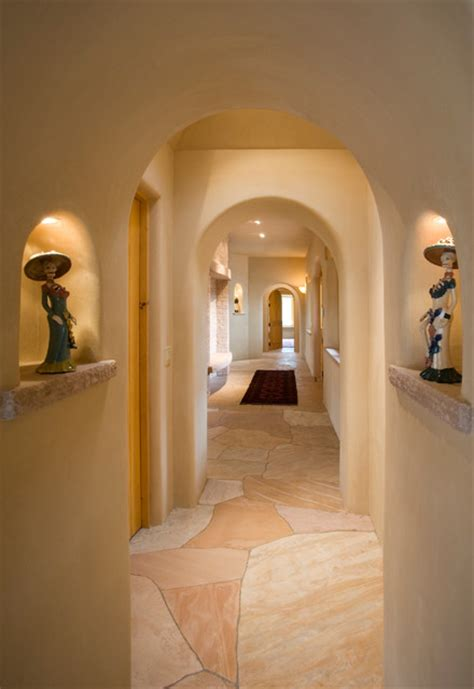 appealing southwestern hallway designs literally connect home