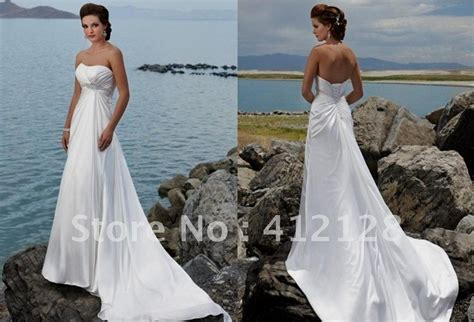 Simple Strapless Beach Wedding Dresses Naf Dresses