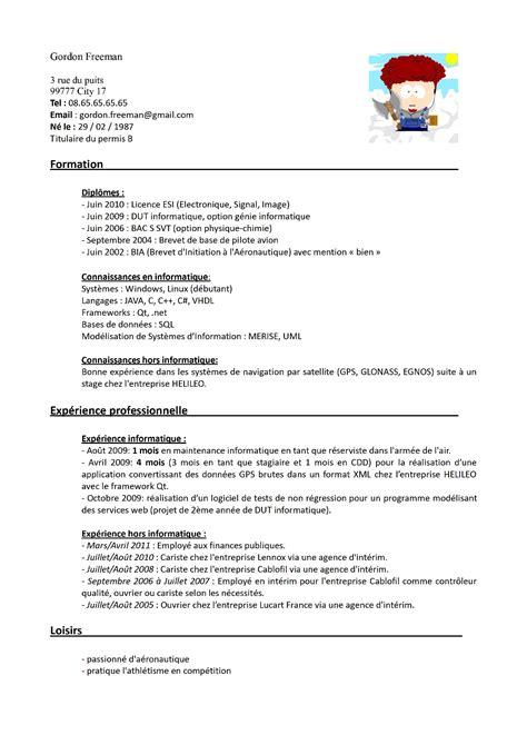 Cv Travail by Exemple Cv Travailleur Handicape