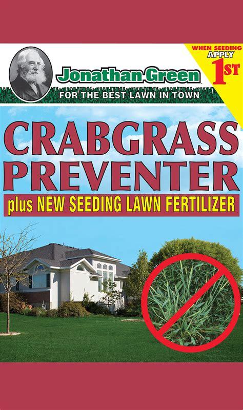 jonathan crabgrass preventer wnew seeding lawn fertilizer