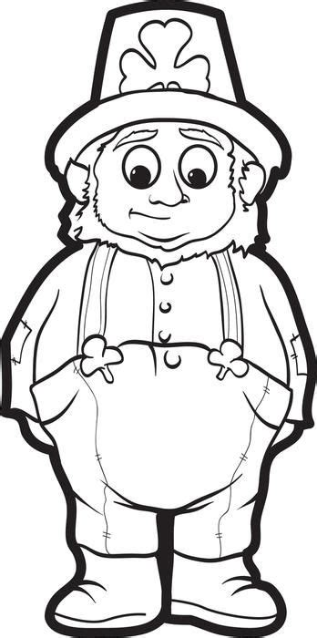 leprechaun coloring page  st patricks day crafts  kids st patrick day activities