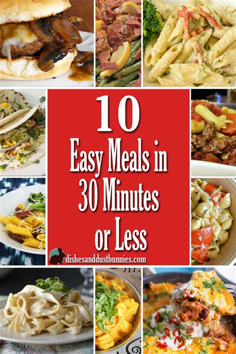 30 minutes meals or less 10 quick and easy 30 minute meals