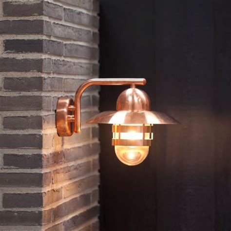 nordlux nibe e27 outdoor wall light copper
