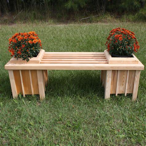 Long Cypress Planter Bench Seat Dfohome