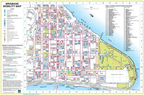 brisbane city map map  brisbane city australia
