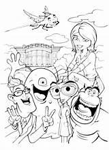 Coloring Aliens Vs Monster Monsters sketch template