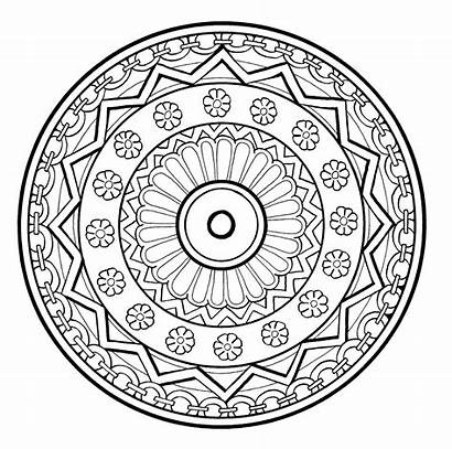 Mandala Normal Mandalas Drawing Patterns Level Flowers