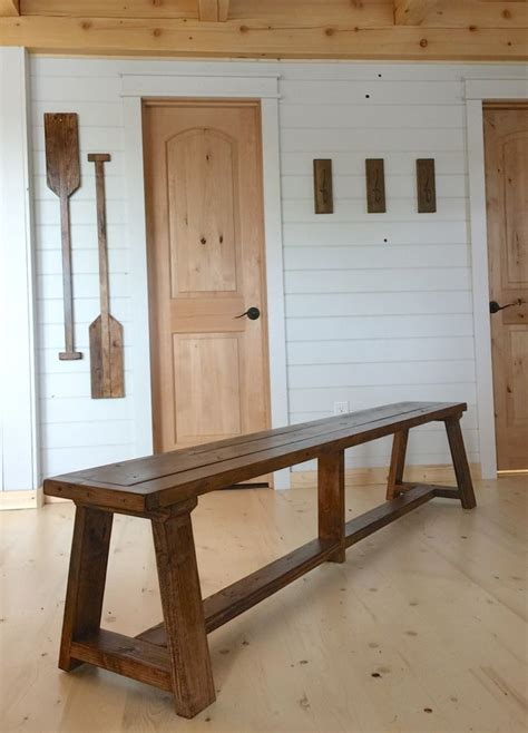 truss benches  alaska lake cabin diy furniture