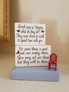 Loved, Ones, In, Heaven, A, Block, Memorial, Display, Shelf, Or, Tabletop, Display, Remembrance, Gift