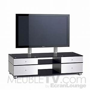 Meuble Tv Ecran Plat : meuble tv en verre ~ Teatrodelosmanantiales.com Idées de Décoration