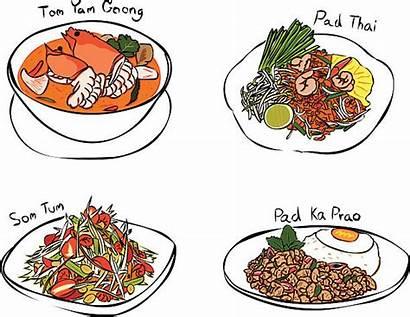 Thai Foods Clipart Vector Clip Illustration Thailand