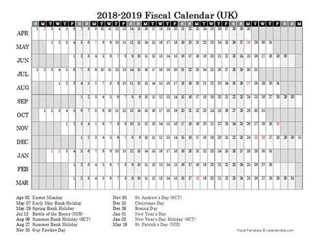 fiscal year calendar  printable templates