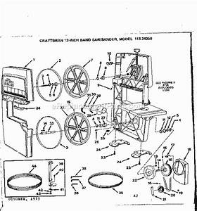 Craftsman 12 Inch Band Saw Model 113 243310 Manual