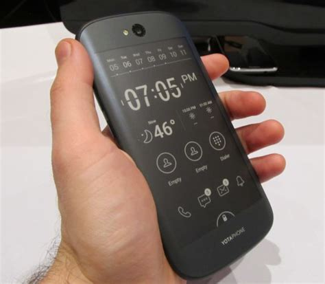 color e ink closer look yotaphone 2 dual screen smartphone with color