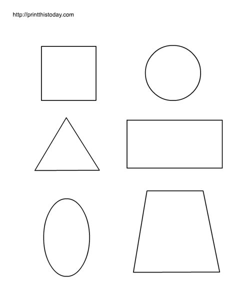 free printable worksheets with basic shapes for preschool