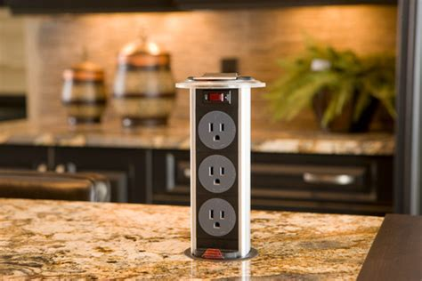 countertop electrical receptacles 5 convenient kitchen island ideas