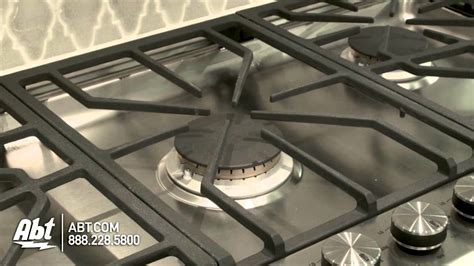 ge monogram   stainless steel gas cooktop zgu youtube