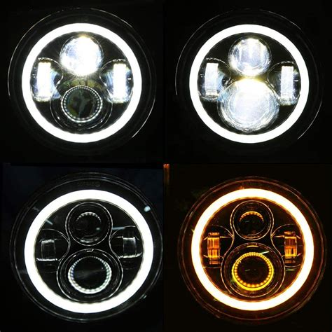 hummer  led headlights conversion hummer  halo headlights
