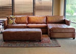 Phoenix 100 full aniline leather sectional sofa with for Sectional sofas 100 leather