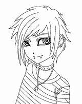 Anime Coloring Pages Boys Printable Boy Getcolorings Colo sketch template