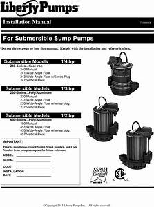 550291 2 Liberty 240 Series Sump Pump Installation Manual