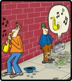 Funny Cartoon Saxophone