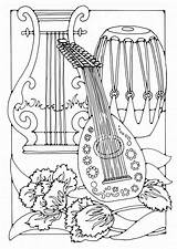 Coloring Pages Musical Instrument Instruments Popular sketch template