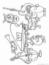 Coloring Pages Instrument Instruments Musical Music sketch template