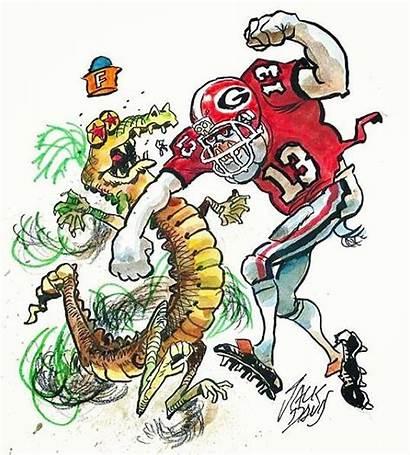 Jack Davis Georgia Bulldogs Florida Football Dawgs