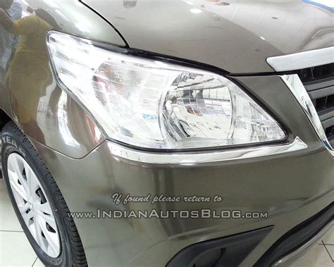 toyota innova limited edition headl chrome finisher