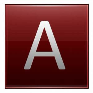 Letter A red Icon | Multipurpose Alphabet Iconset ...