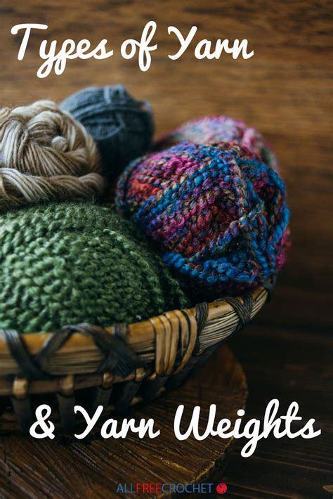 types  yarn  yarn weight allfreecrochetcom